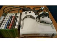 Xbox 360 20gb + 11 games, 2 controllers