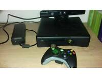 Xbox 360 slim 120gb with kinect and 25games