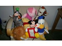 "Collection of 8 Disney toys. 10"" to 20"". Tigger Piglet Winnie Donald Goofy Baloo Lion King Mickey"