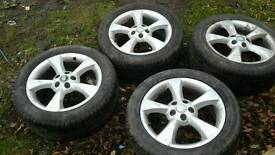 Alloy wheels and tyres jaguar s type