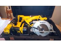 Dewalt 18v cordless XRP tools set in G.W.O. Drill/Recip. Saw/Circ. Saw etc, see photos & details