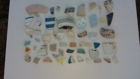 Mosaic Pottery 50 pieces