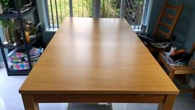 Ikea solid extendable table 6 chairs vgc