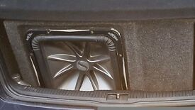 Kicker l7 15 in proper ported box car audio sub amp