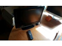 "Logik 19"" LCD TV With Freeview & DVD Player Built In-Fully Tested Working-L19DVDB19A"