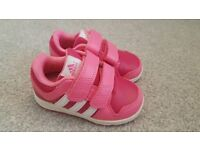 Brand new girls pink adidas trainers size 5