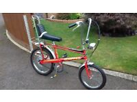 """raleigh chopper MK2 1974 infra red """"THE HOT ONE"""""""