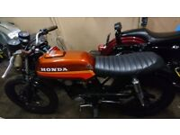 Cb100 cafe racer flat tracker brat custom retro classic Honda modified