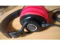 Audio Technica ATH M40x over head headphones