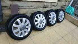 """Ford fiesta original 15"""" alloy wheels with nearly new tyres"""