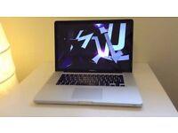 2.53Ghz 15.' Apple MacBook Pro 8gb 250GB Final Cut Pro X Logic Pro X Sibelius Ableton Pro Tools 10