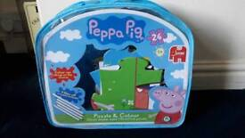 Brand new peppa pig jumbo puzzle and colour