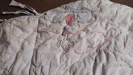 Winnie the Pooh cot/cot bed bundle.