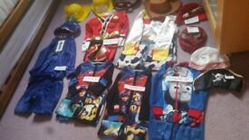 Hero/helloween costumes etc size kids to adult some new
