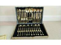 1960s 24ct Gold Plated Cutlery Set