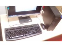 """PC setup ACER 22""""monitor, dual core small factor PC, genuine Win7,Wifi,keyboard,mouse,2GB RAM,80GB H"""