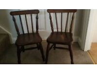 Pair of children's wooden chairs.