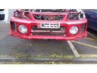 Mitsubishi evo 5 front bumper and fog lights