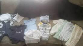 Baby boy clothes bundle 1st size newborn