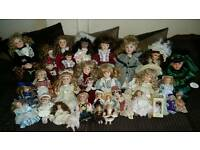 Job lot of China dolls