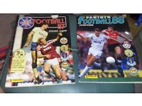 PANINI FOOTBALL 87 AND 88 STICKER ALBUMS