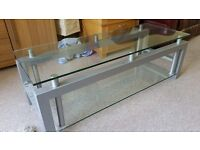 High Quality Glass and Metal TV Stand