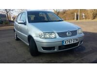 VOLKSWAGE POLO MATCH SILVER 1.4//1 OWNER//2 KEYS//CAM BELT CHANGED/SERVICE HISTORY £599