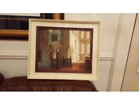 oil painting of priory interior Morpeth Northumberland