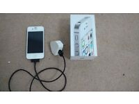 Apple iPhone 4s White Mobile Smart Phone with Original Box, Awesome Condition, MINT!