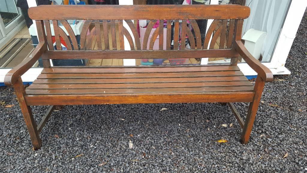 Solid mahogany garden bench