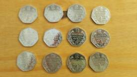 Beatrix Potter 50p Coins