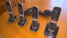 Cordless Phones - Set of 4, BT 8610 Quad With Call Blocking Technology