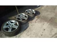 Peugeot 206 gti 180 alloy wheels X3
