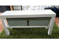 2 x white ikea tables / shoe rack
