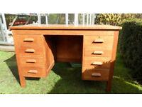mid 1950s oak desk
