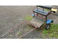 Shetland pony exercise cart