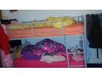 Single bunk bed with single mattress