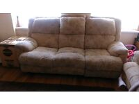 2 x 3 seater sofa with recliners.