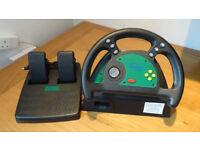 Nintendo 64 N64 Steering Wheel and Pedals