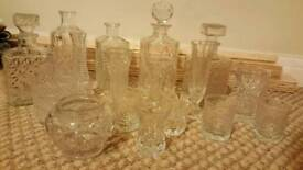 Glassware decanter set great condition