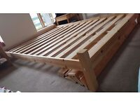King size bed frame perfect condition - real wood
