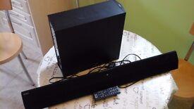 Sony HT-CT370 2.1 Channel 300W Sound Bar Wireless Subwoofer Bluetooth NFC