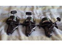 3 shimano long cast reels