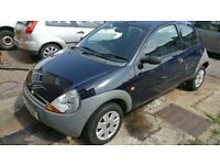 Ford KA 1.2 Petrol 2006 45K Mileage Manual, Midnight Blue, 1 Year MOT, new tyres, Cheap!
