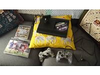 PS3 (Slim Model) - Two Controllers - Fifa 16 and GTA V