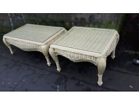 White Wicker Conservatory or Garden Tables