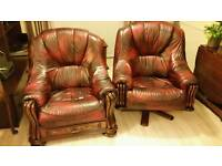 2 Oxblood Leather Chairs