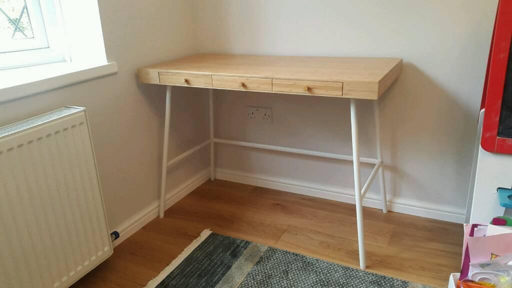 Ikea bamboo lillasen desk in swindon wiltshire gumtree