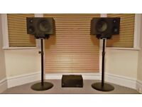 N-Monitors + Adcom GFA 555 mkII amplifier + Monitor stands.