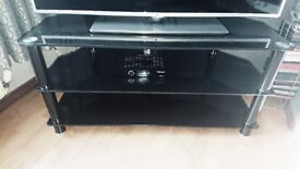 John Lewis solid black tv stand up to 50in